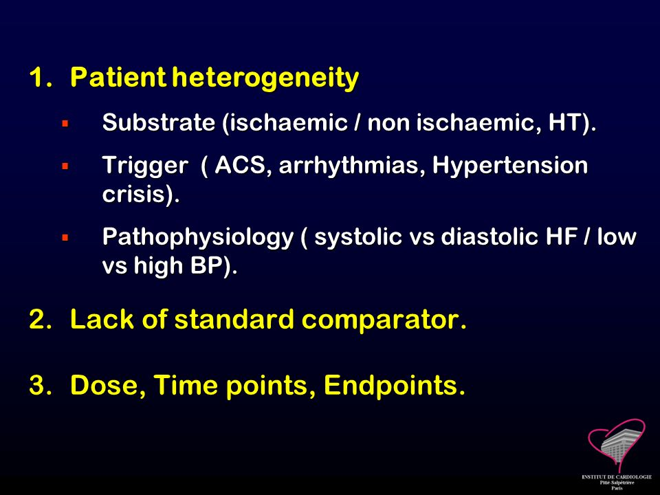 Patient heterogeneity