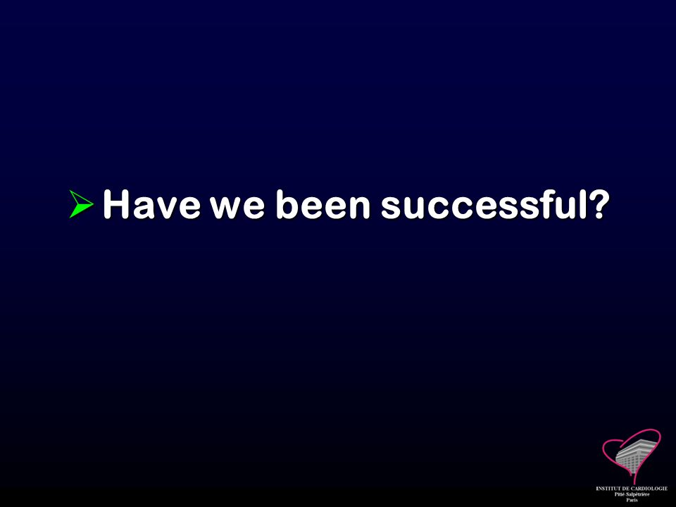 Have we been successful