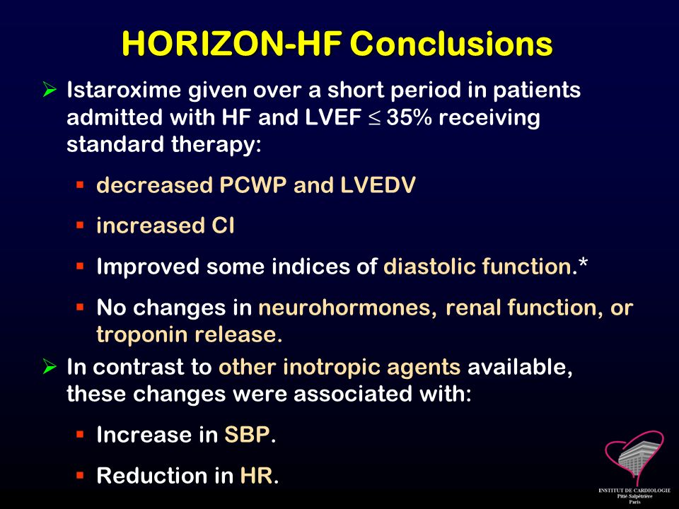 HORIZON-HF Conclusions