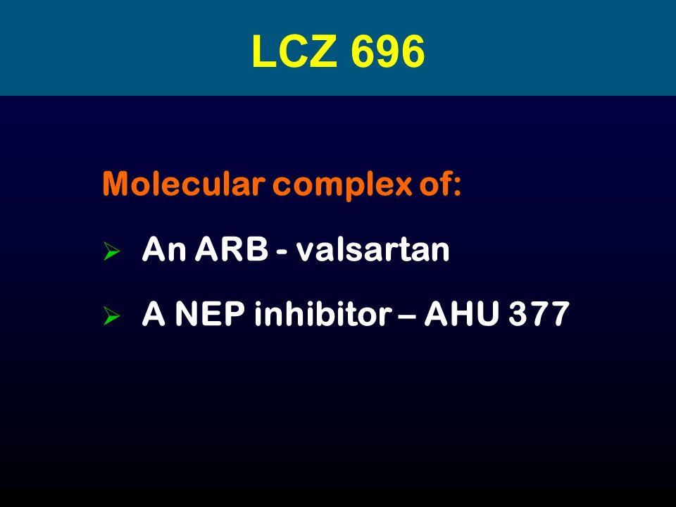 LCZ 696 Molecular complex of: An ARB - valsartan