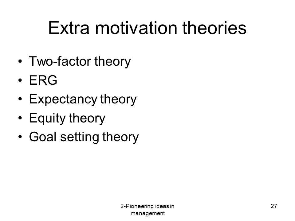 Extra motivation theories