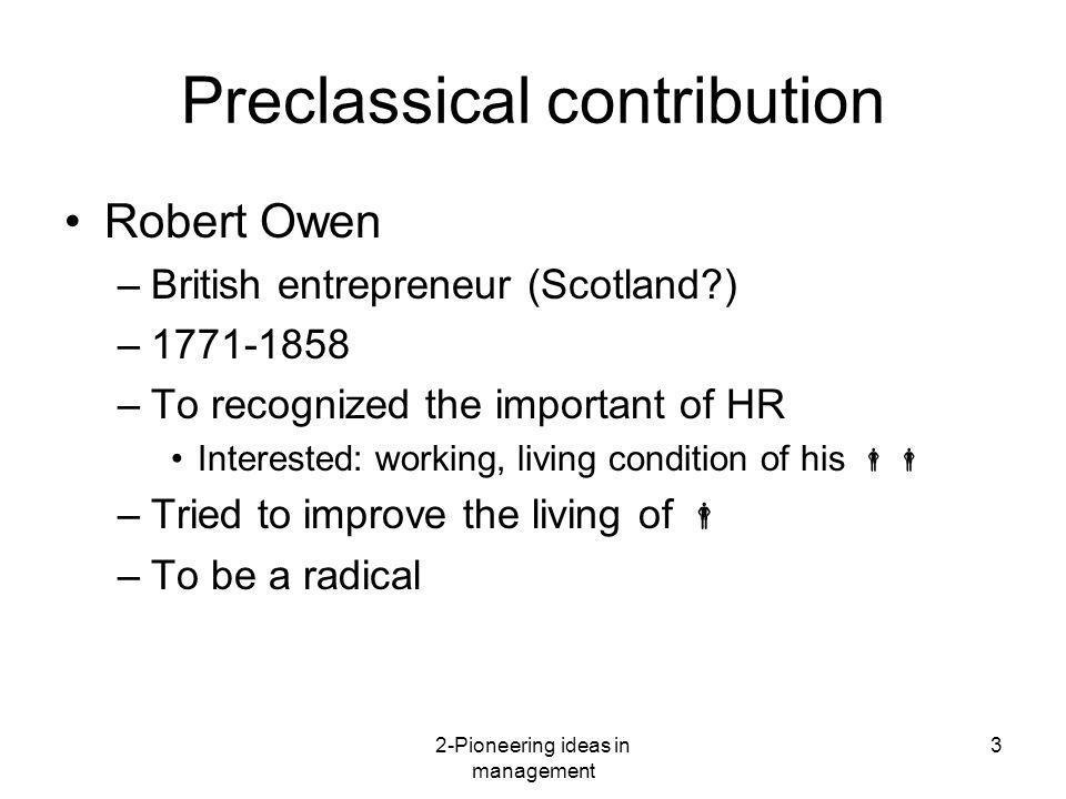 Preclassical contribution