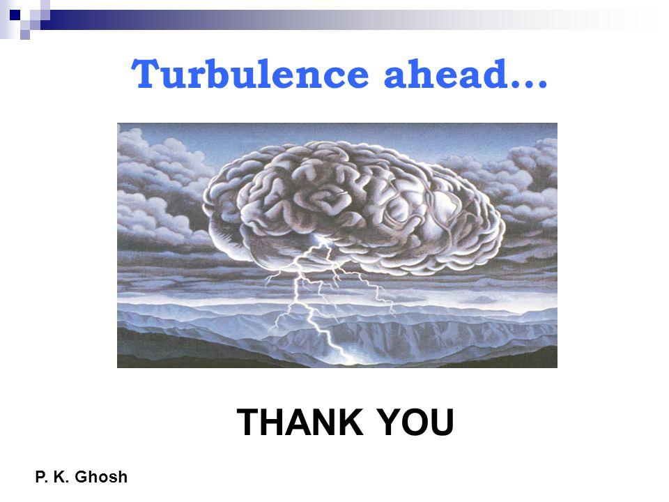 Turbulence ahead… THANK YOU P. K. Ghosh
