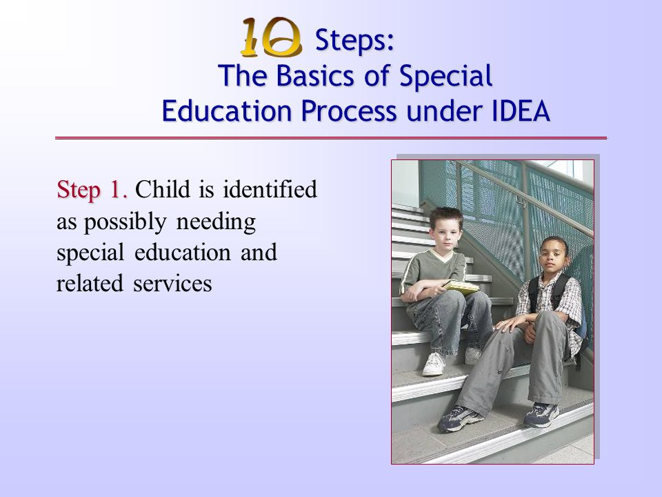 Steps: The Basics of Special Education Process under IDEA