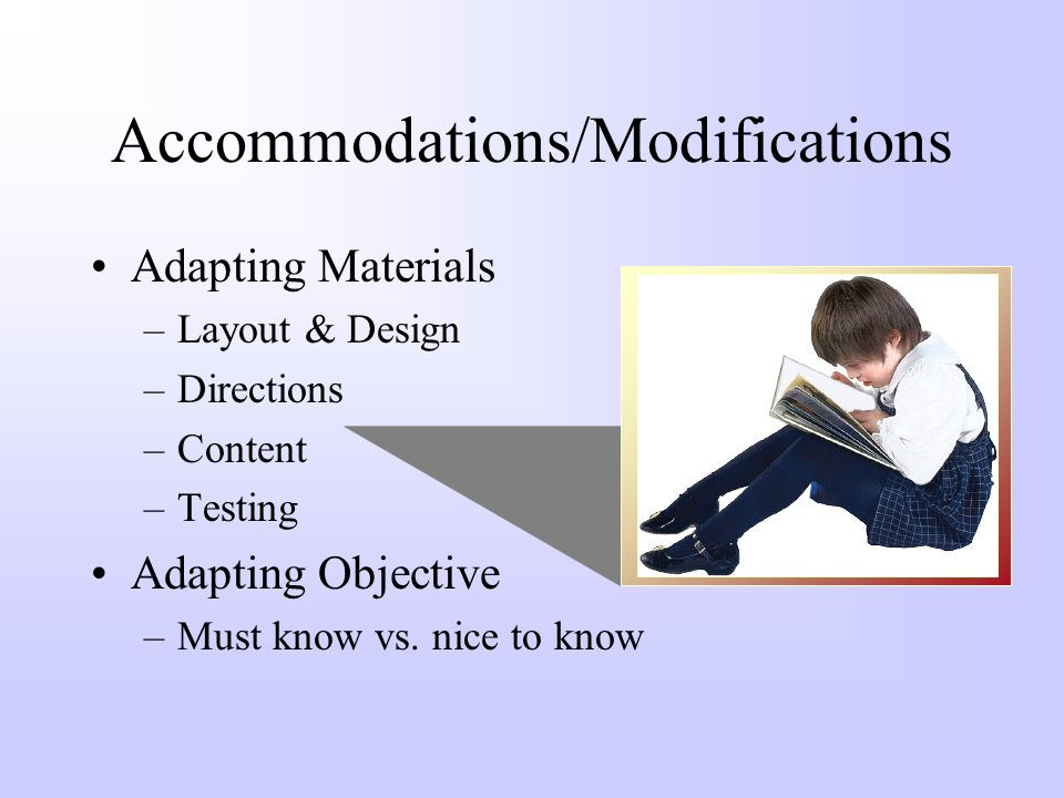 Accommodations/Modifications