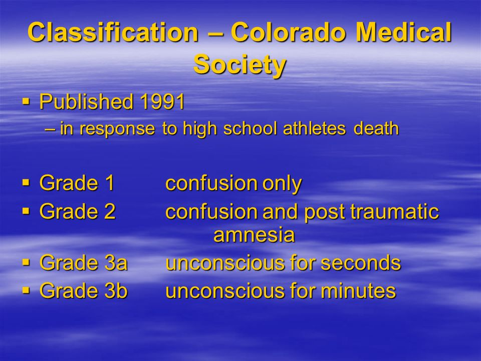Classification – Colorado Medical Society