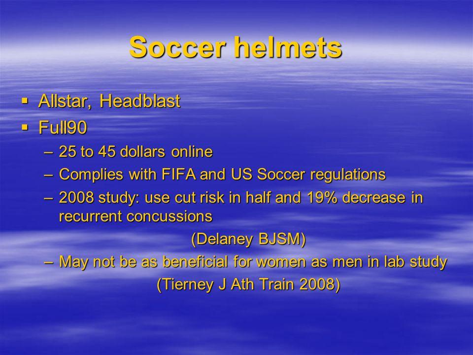 Soccer helmets Allstar, Headblast Full90 25 to 45 dollars online