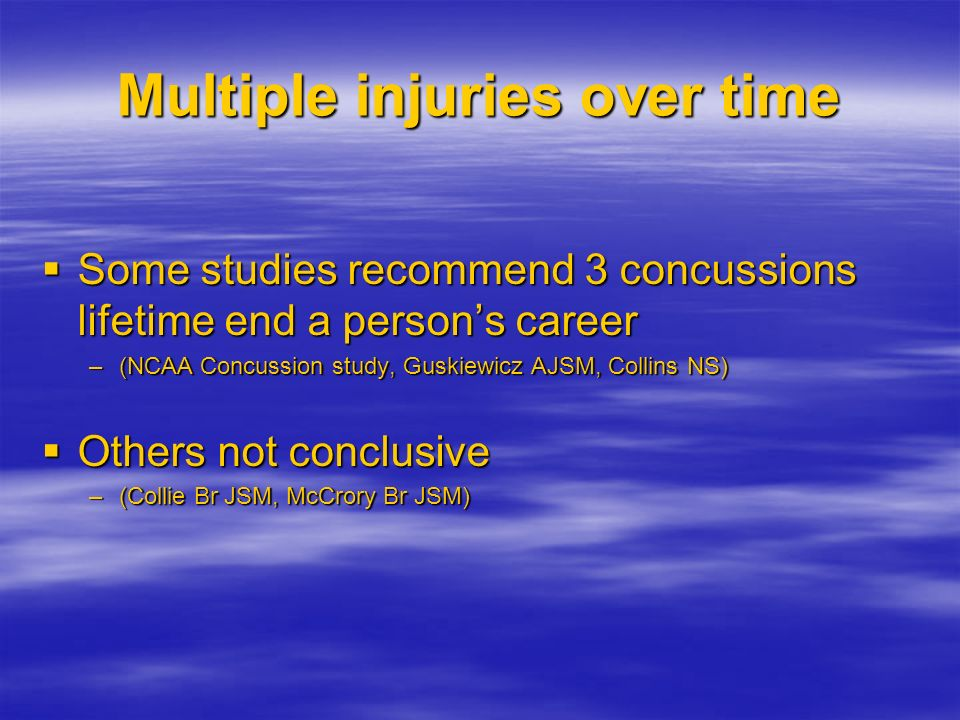 Multiple injuries over time