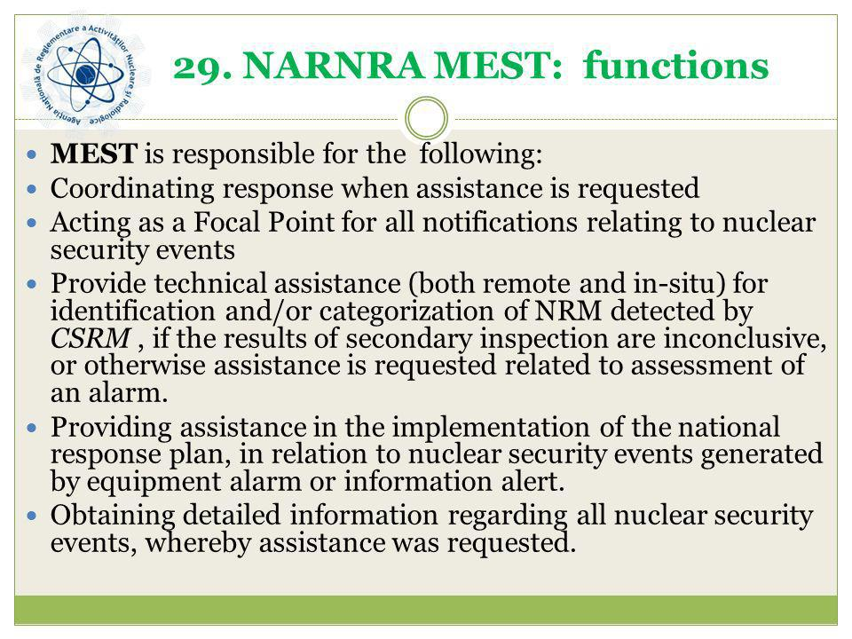 29. NARNRA MEST: functions