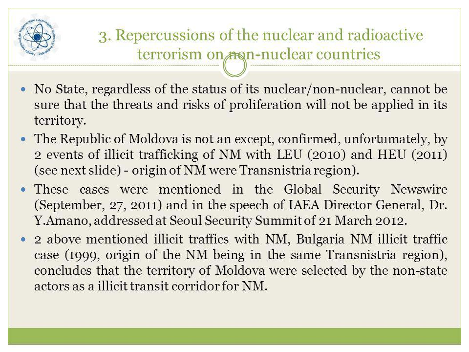 3. Repercussions of the nuclear and radioactive terrorism on non-nuclear countries