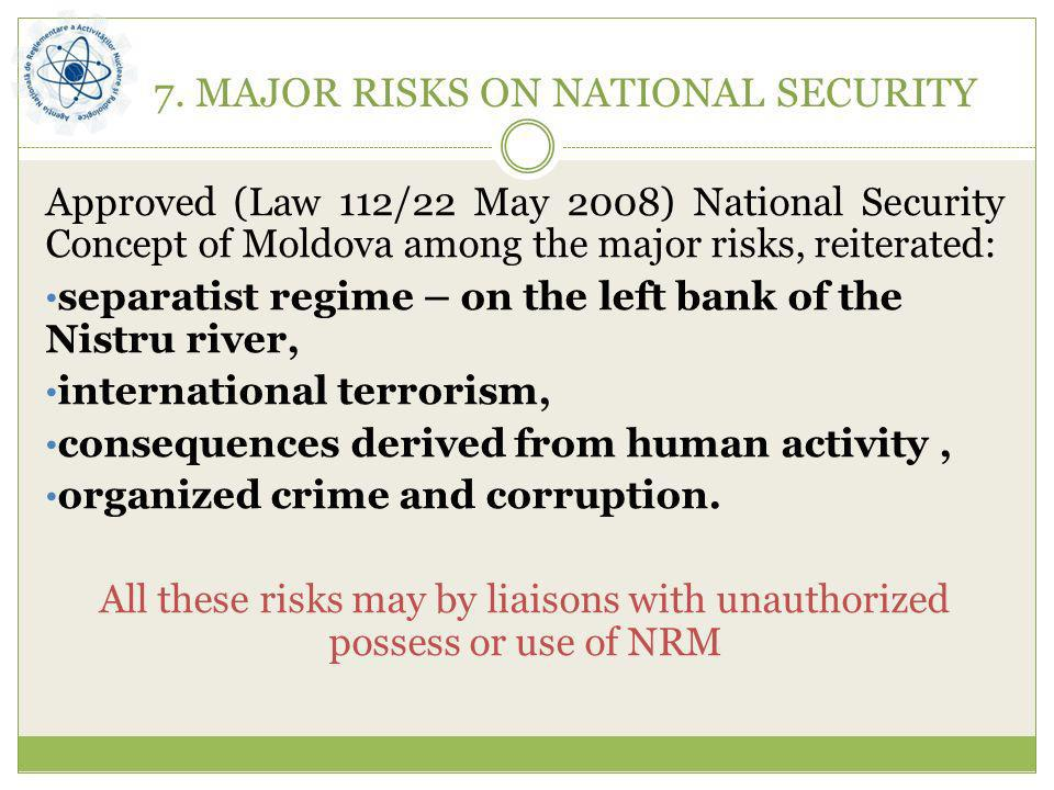 7. MAJOR RISKS ON NATIONAL SECURITY