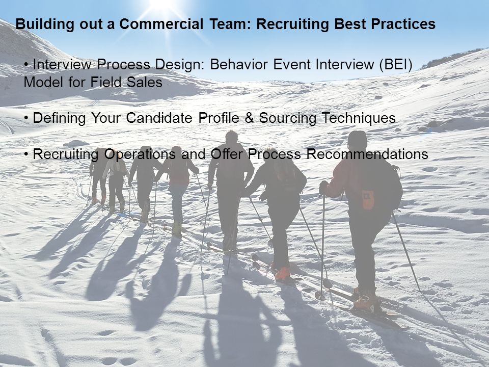 Building out a Commercial Team: Recruiting Best Practices
