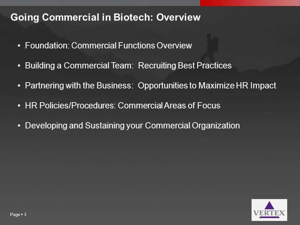 Going Commercial in Biotech: Overview