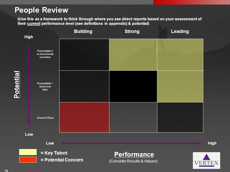People Review Potential Performance Building Strong Leading