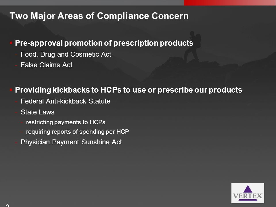 Two Major Areas of Compliance Concern