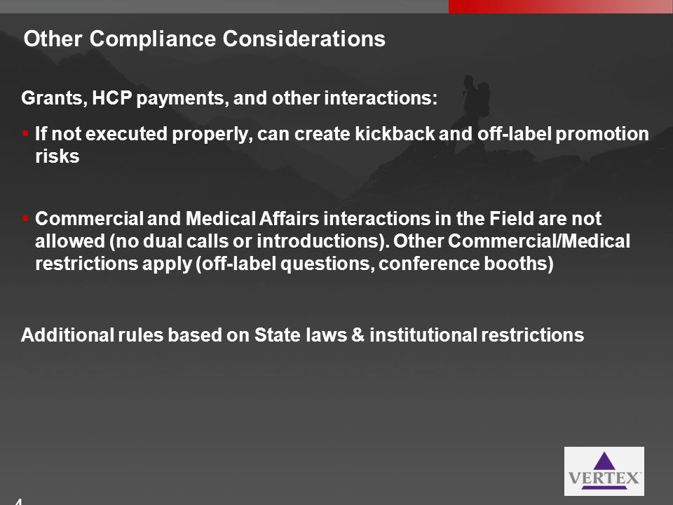 Other Compliance Considerations