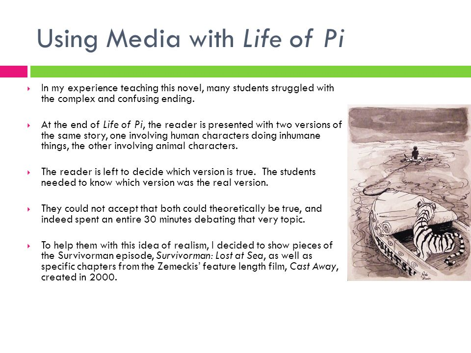 Using Media with Life of Pi