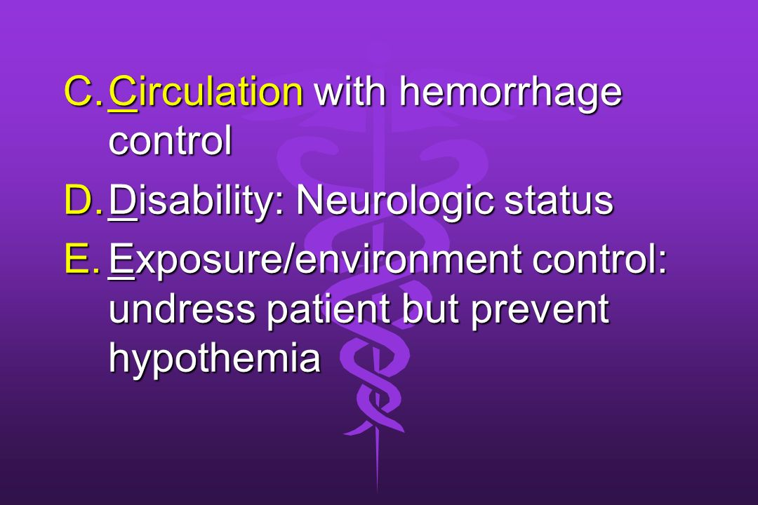 Circulation with hemorrhage control
