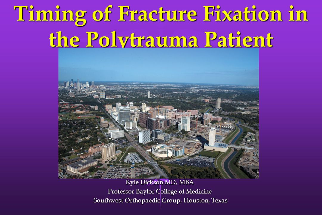 Timing of Fracture Fixation in the Polytrauma Patient