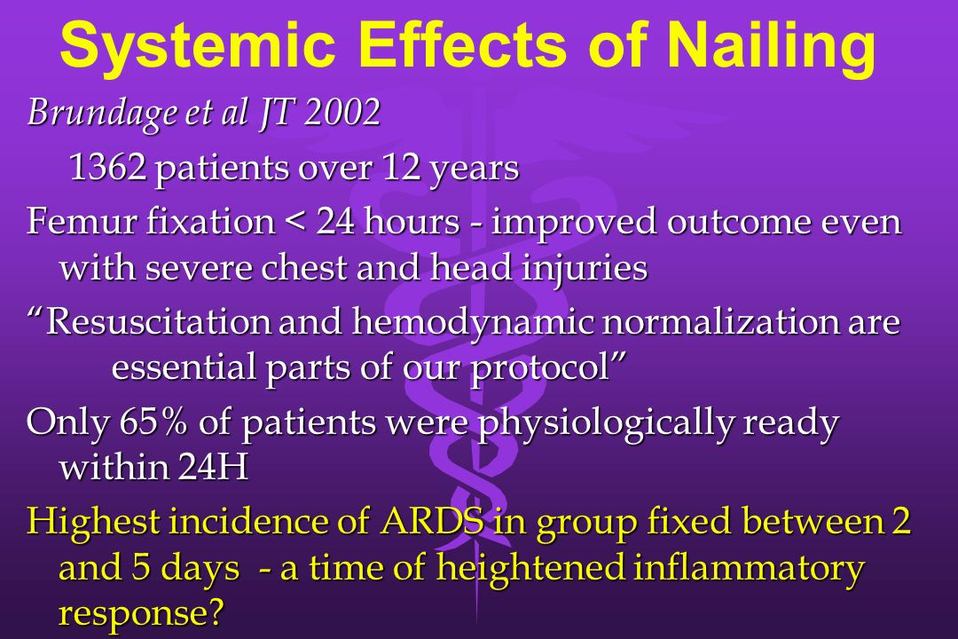 Systemic Effects of Nailing