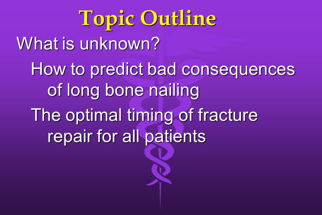 Topic Outline What is unknown