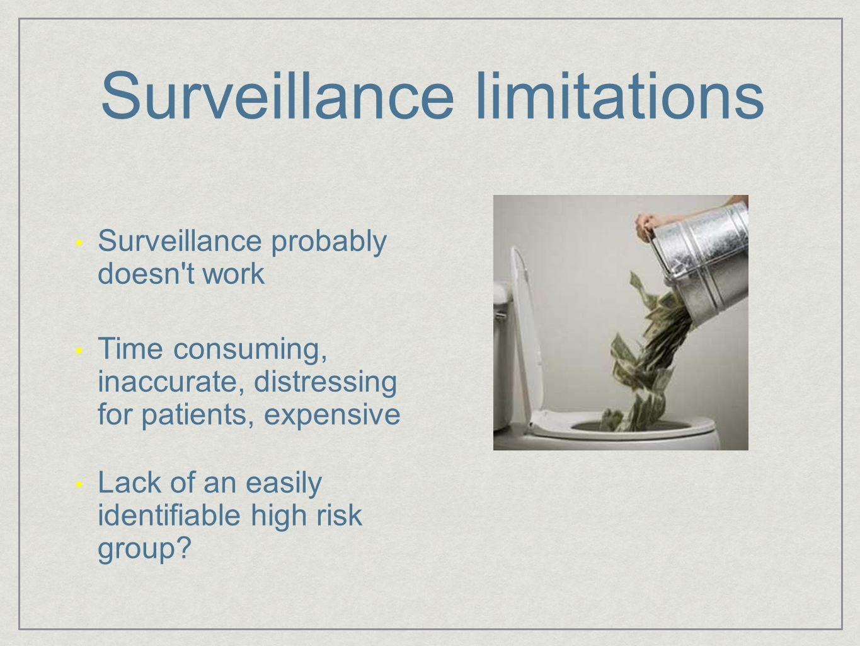 Surveillance limitations
