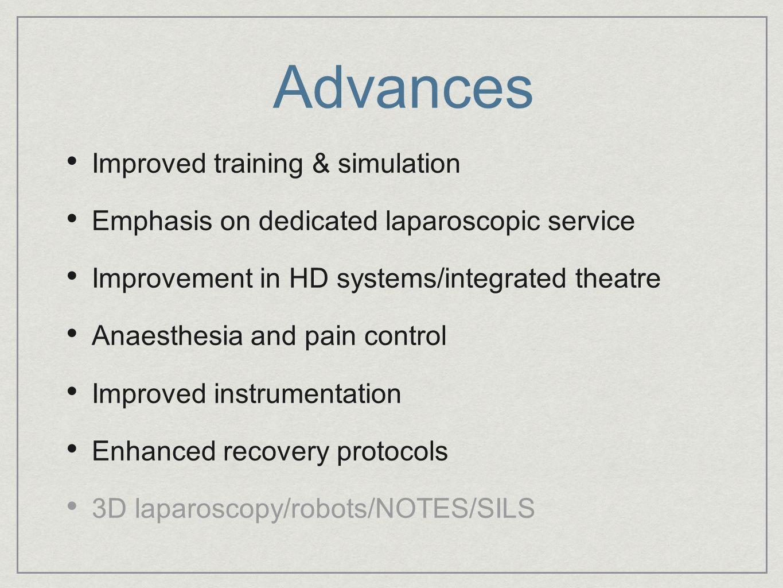 Advances Improved training & simulation