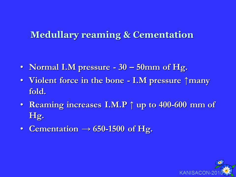 Medullary reaming & Cementation
