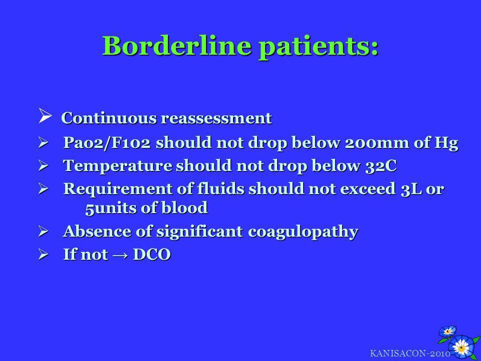 Borderline patients: Continuous reassessment