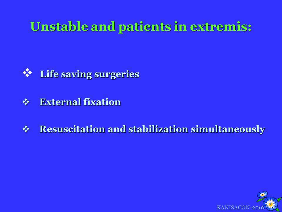 Unstable and patients in extremis: