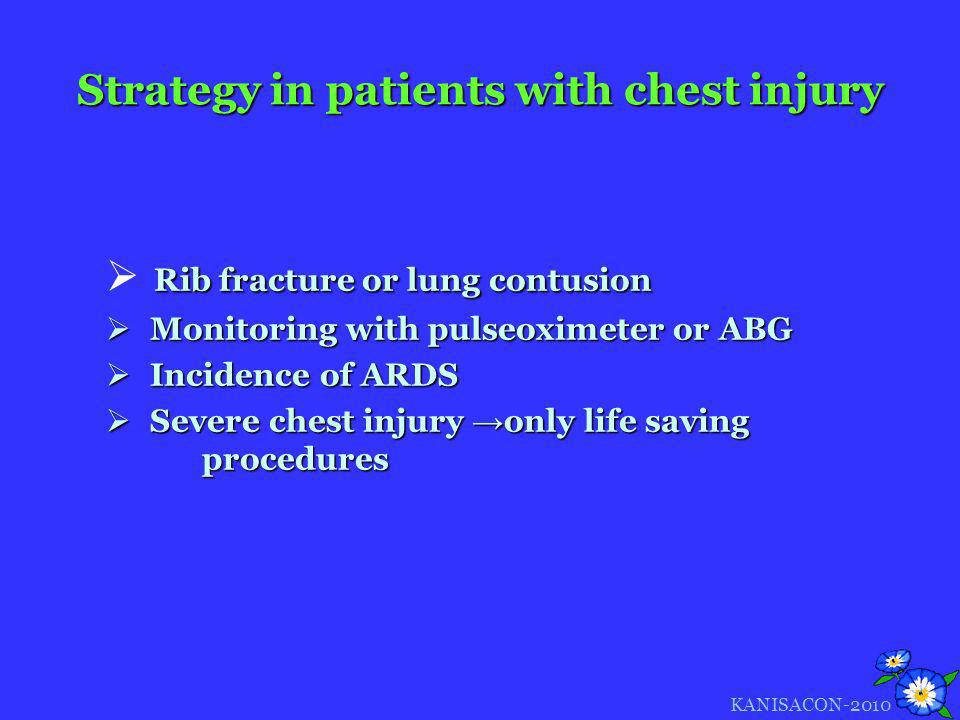Strategy in patients with chest injury