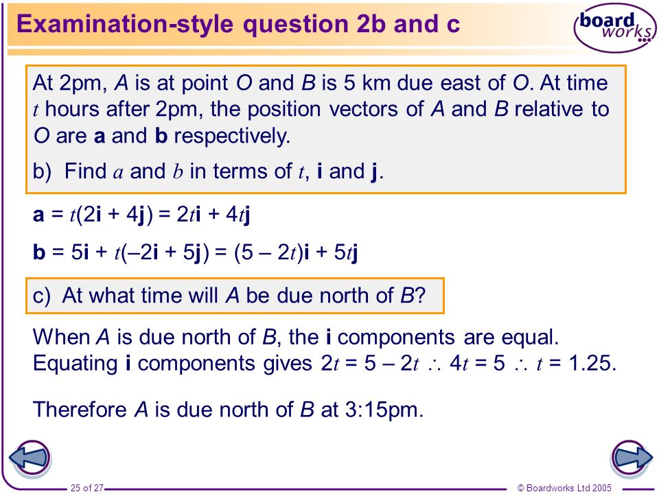 Examination-style question 2b and c
