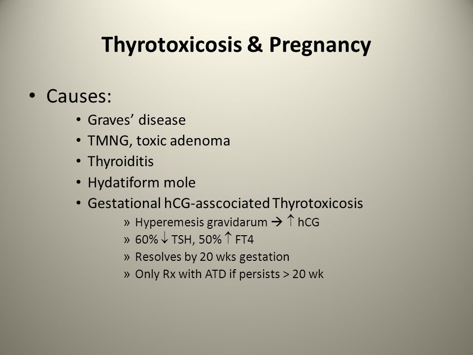 Thyrotoxicosis & Pregnancy