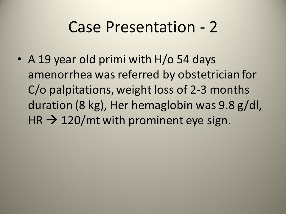 Case Presentation - 2