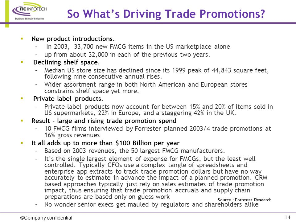 So What's Driving Trade Promotions