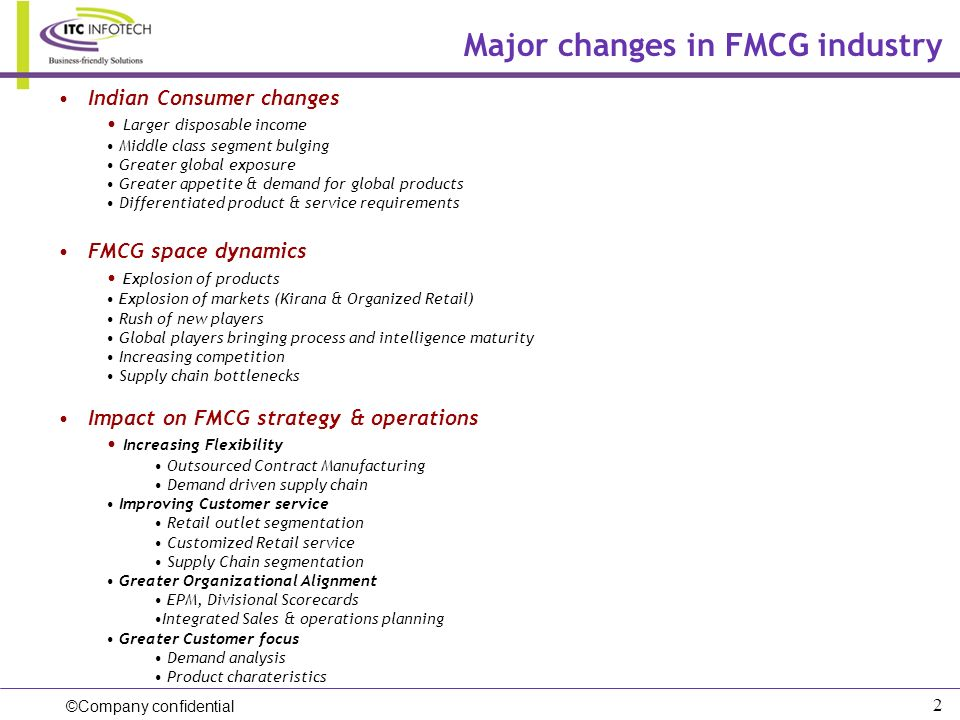 Major changes in FMCG industry