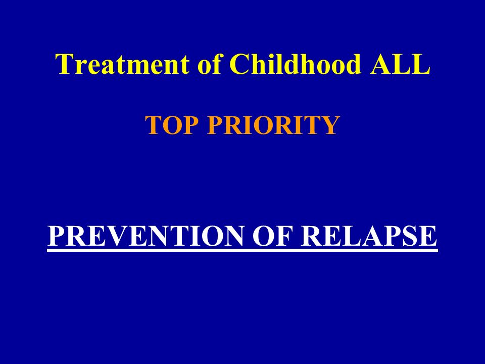 Treatment of Childhood ALL