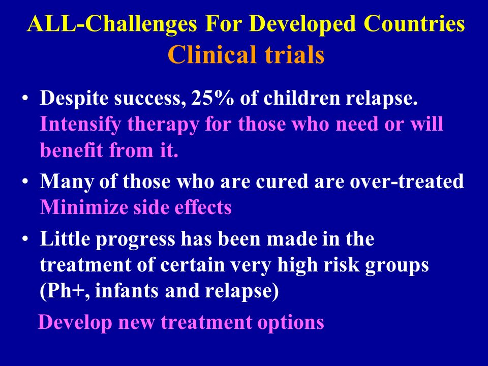ALL-Challenges For Developed Countries Clinical trials