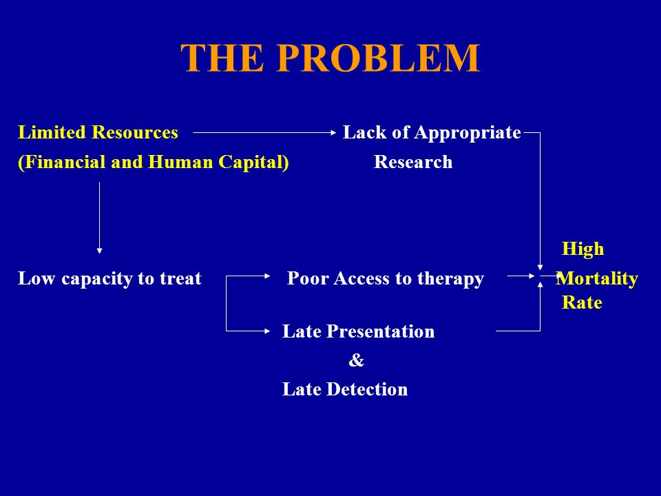 THE PROBLEM Limited Resources Lack of Appropriate
