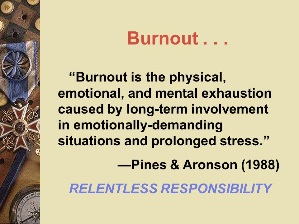 Burnout . . .