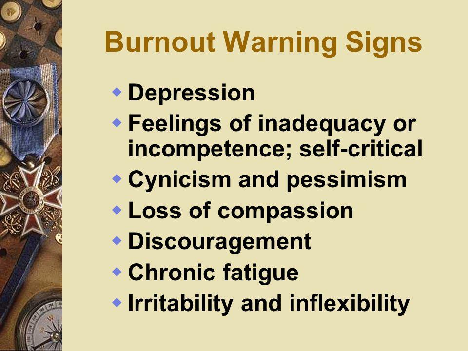 Burnout Warning Signs Depression