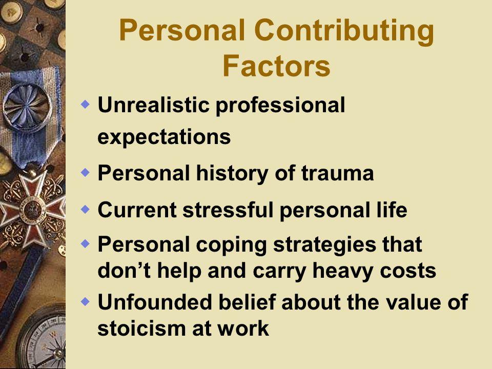 Personal Contributing Factors