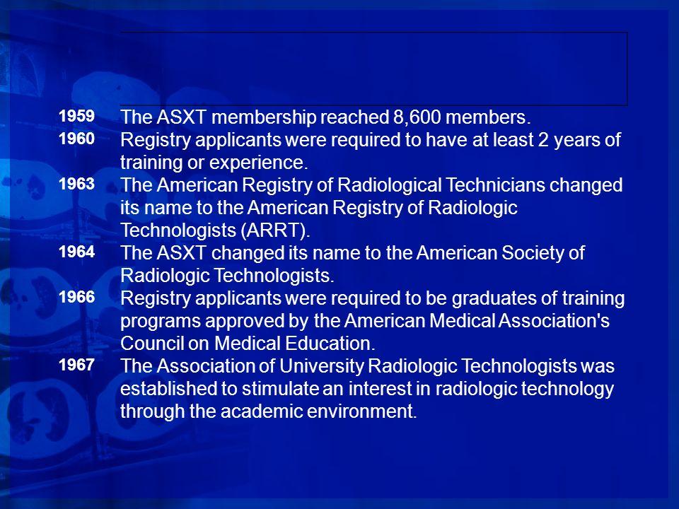 The ASXT membership reached 8,600 members.