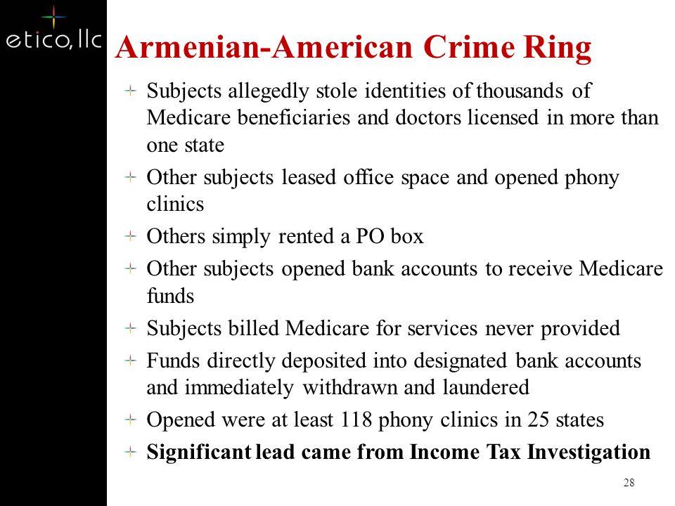 Armenian-American Crime Ring