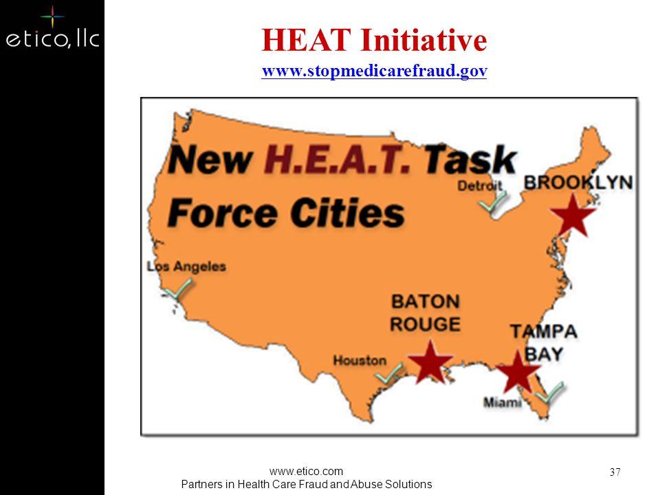 HEAT Initiative www.stopmedicarefraud.gov