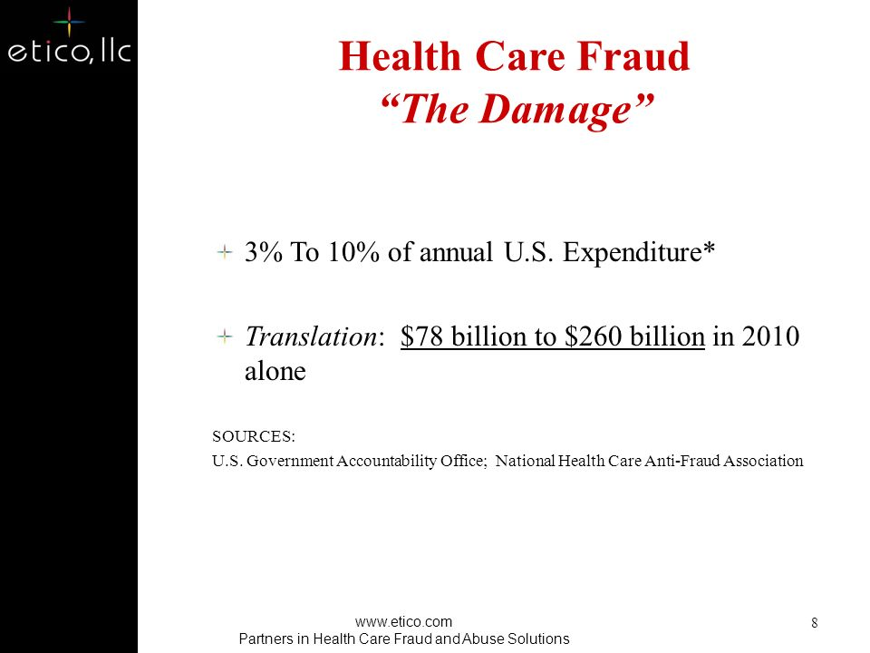 Health Care Fraud The Damage