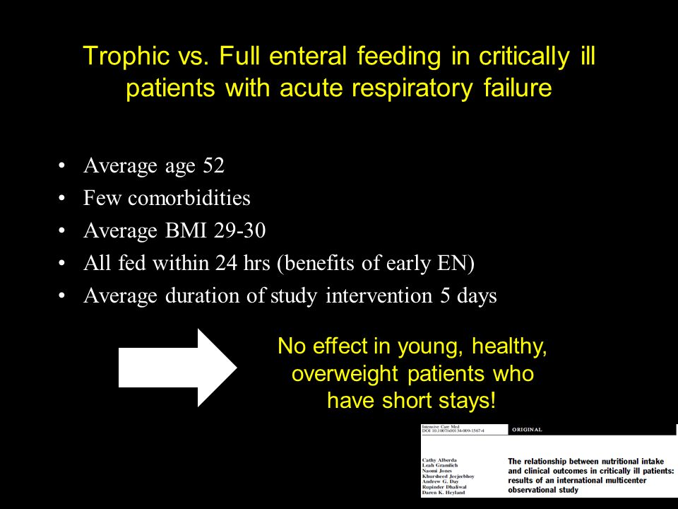 No effect in young, healthy, overweight patients who have short stays!