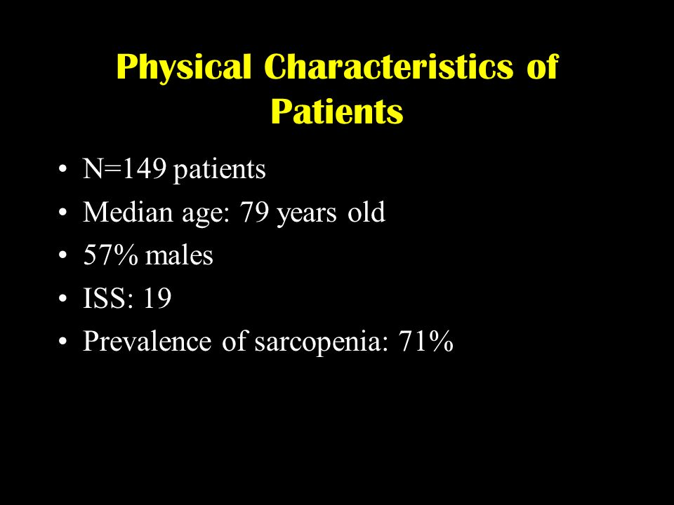Physical Characteristics of Patients