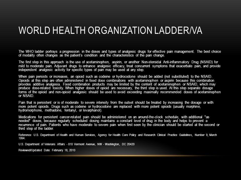 World Health Organization Ladder/VA