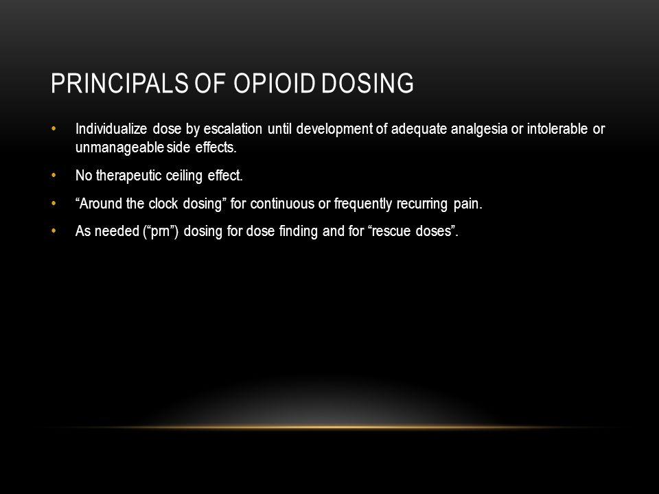 Principals of opioid dosing
